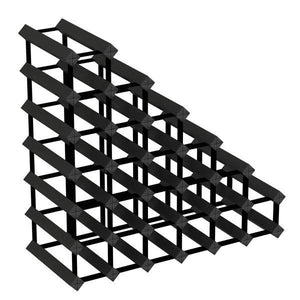 Sloped Timber Wine Rack | Black Finish