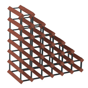 Sloped Timber Wine Rack | Mahogany Finish