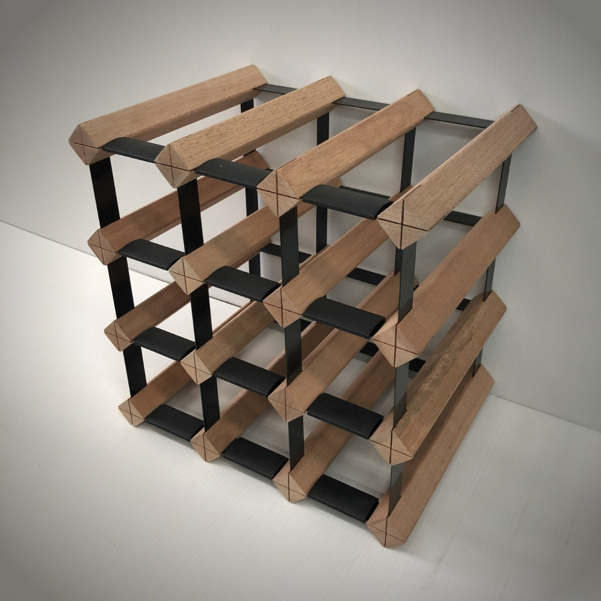 12 Bottle Timber Wine Rack | 3x3 Configuration