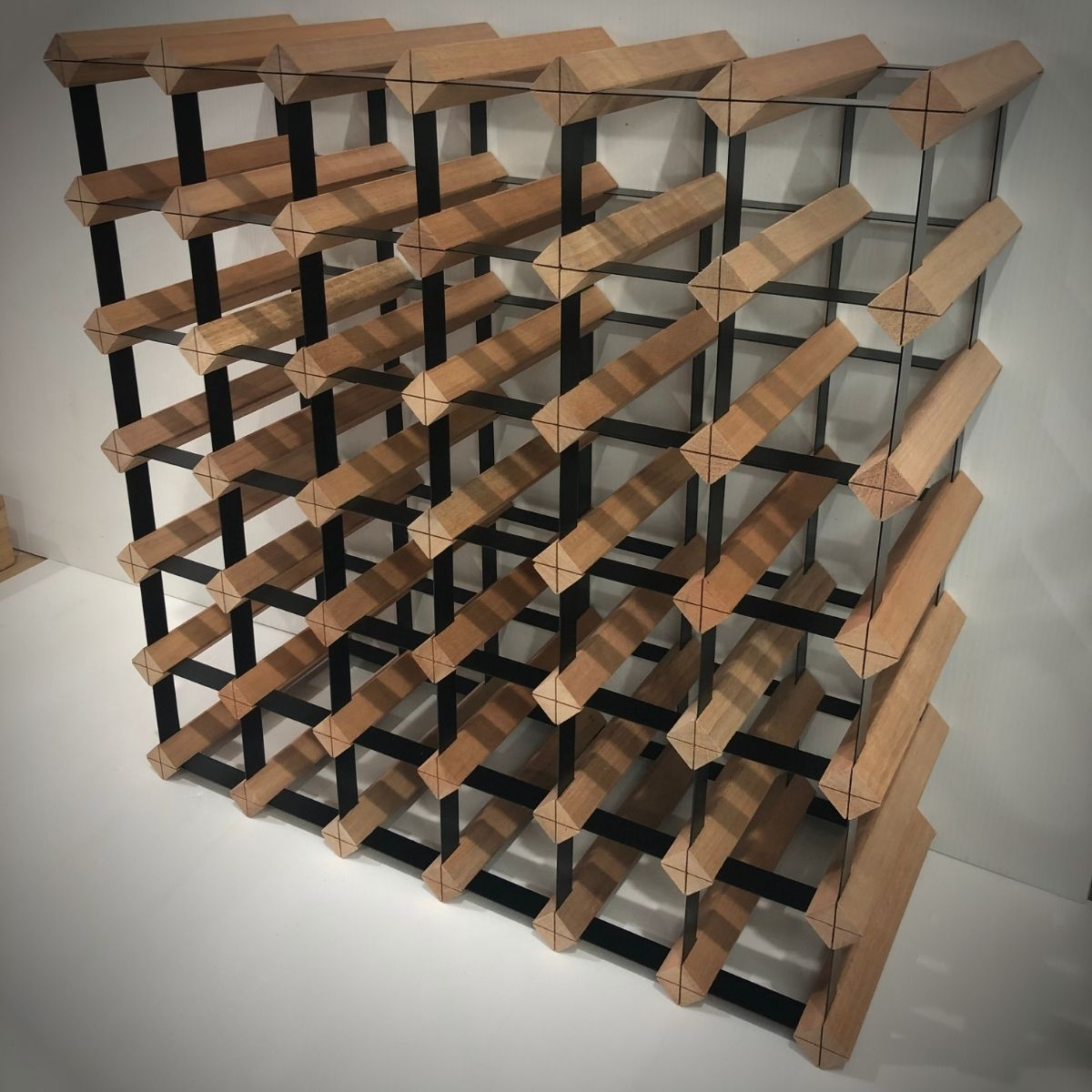 42 Bottle Timber Wine Rack | 6x6 Configuration