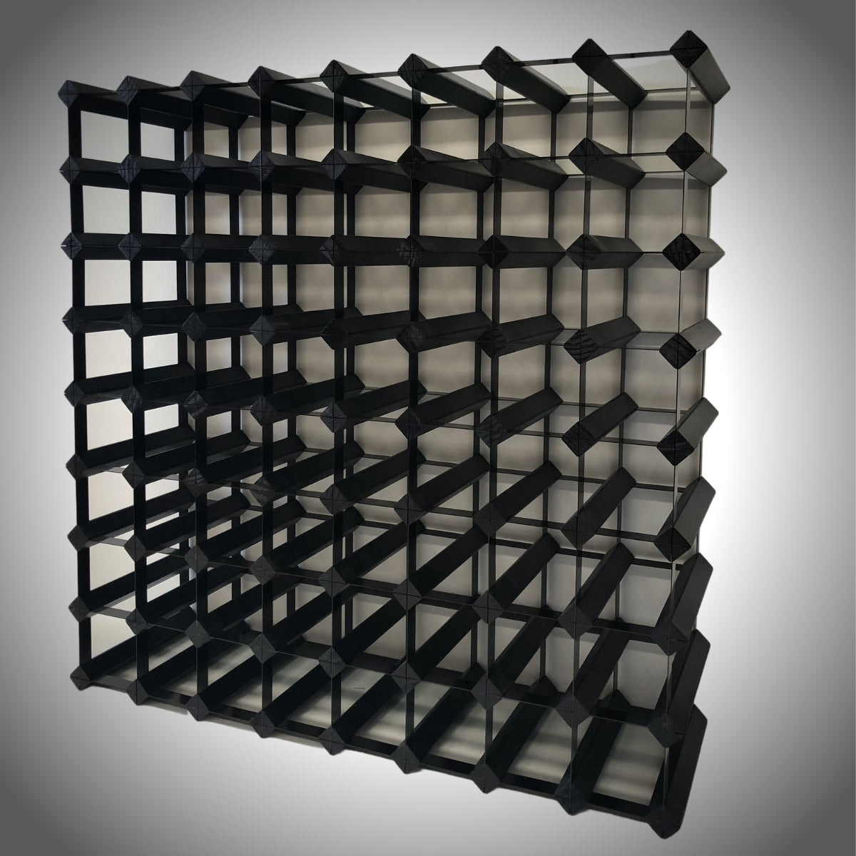 72 Bottle Timber Wine Rack | 8x8 Configuration