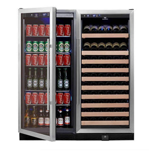 glass door upright wine and beverage refrigerator KBU100BW2-SS