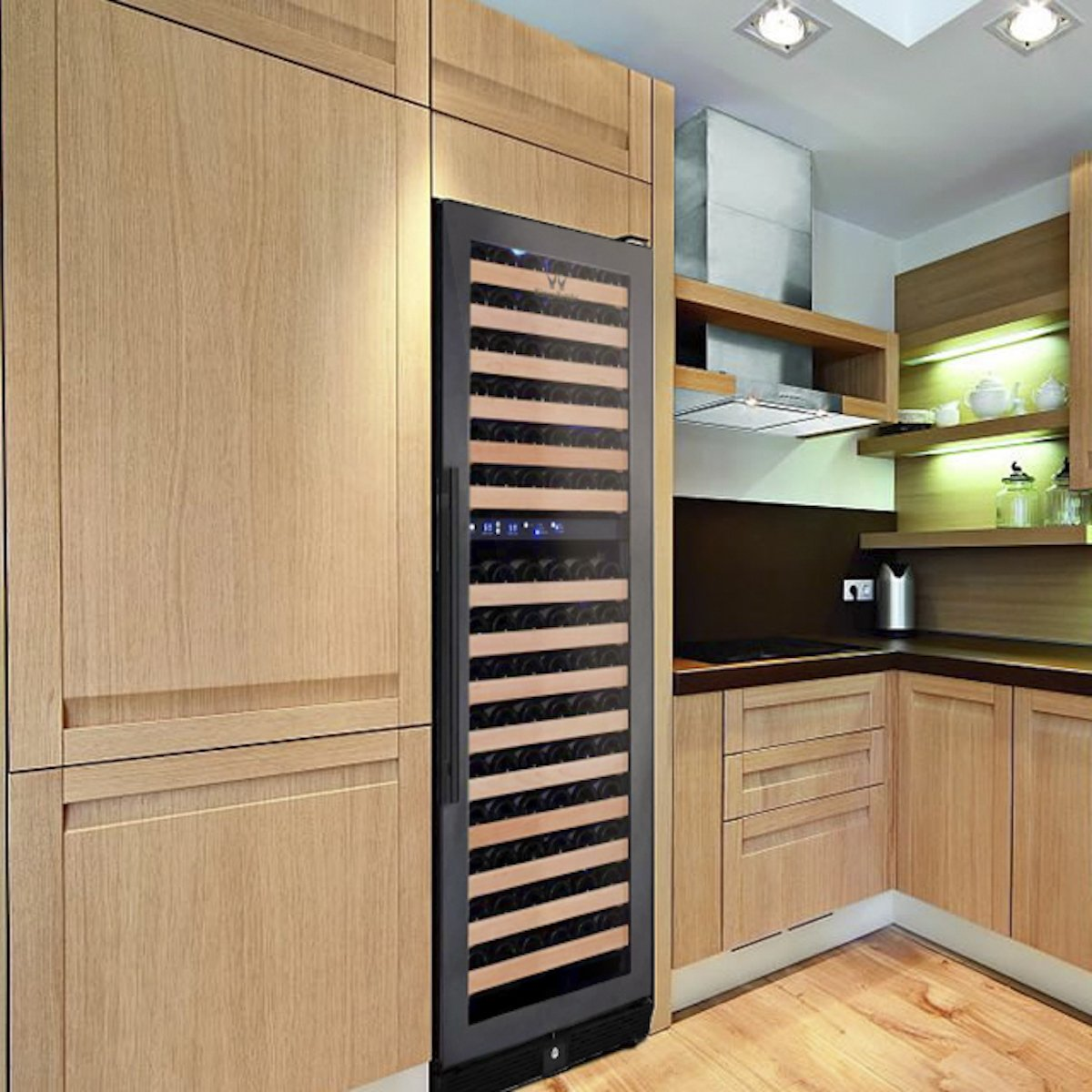 164 Bottle Large Wine Refrigerator With Glass Door
