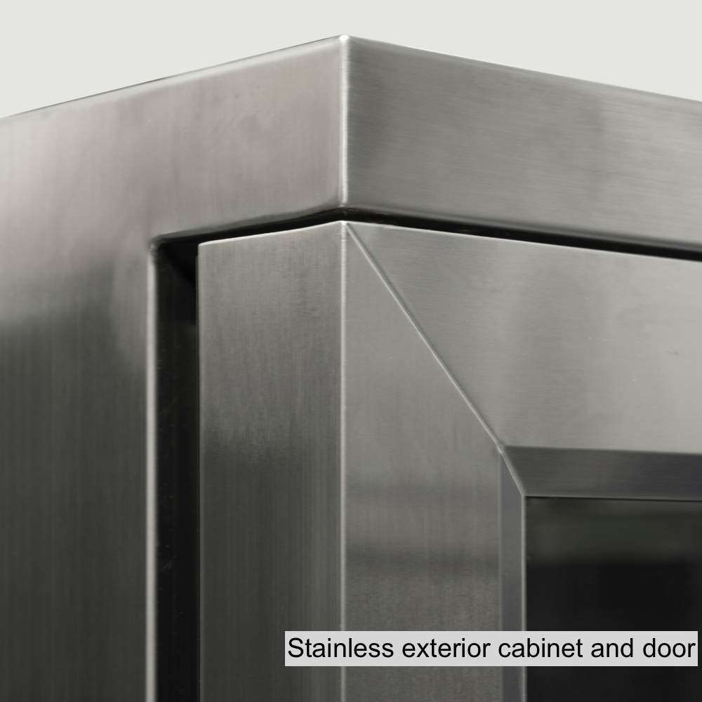 stainless steel exterior cabinet and door