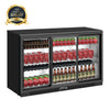 54 Inch Sliding Glass 3 Door Back Bar Drinks Cooler