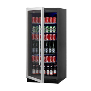 Beverage Cooler Refrigerator Glass Door | KingsBottle Upright Drink Center
