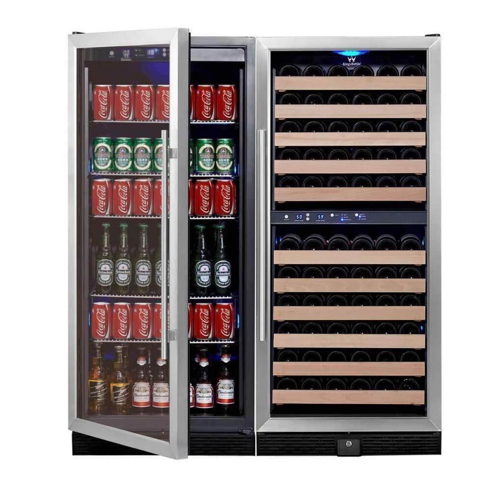 upright wine and beverage fridge combo KBU100BW3