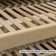 wine friendly beech wood shelves