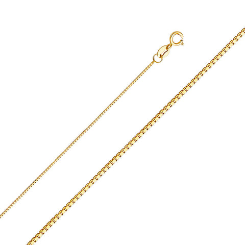 14K 0.8 mm Box Chain - Top Gold & Diamond Jewelry