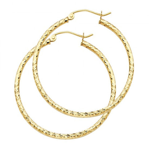14K 1.5mm Hoop Earrings.Avg. Weight: 1.6 gr. - Top Gold & Diamond Jewelry