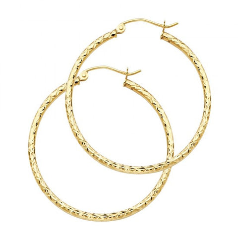 14K 1.5mm Hoop Earrings.Avg. Weight: 1.1 gr. - Top Gold & Diamond Jewelry