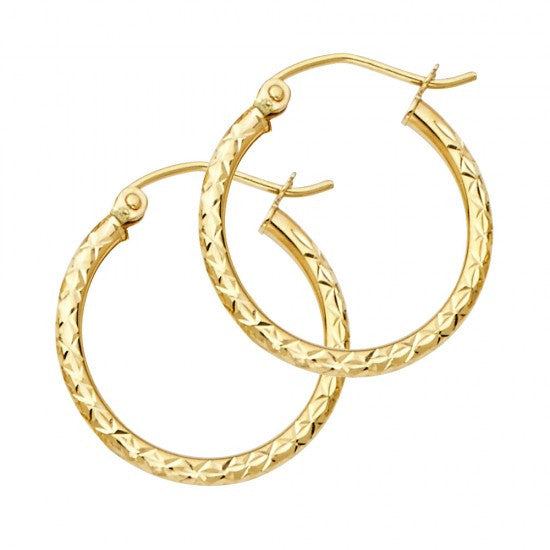 14K 1.5mm Hoop Earrings.Avg. Weight: 0.9 gr. - Top Gold & Diamond Jewelry