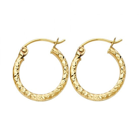 14K. 1.5mm Hoop Earrings.Avg. Weight: 0.8 gr. - Top Gold & Diamond Jewelry