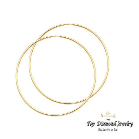 14K 1.5mm Hoop Earrings. Avg. We.: 2.4 gr. - Top Gold & Diamond Jewelry