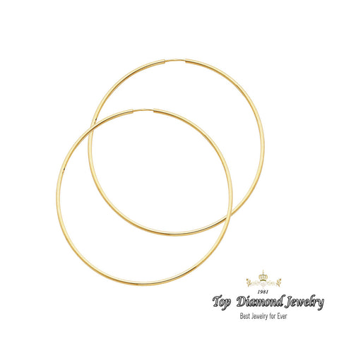 14K 1.5mm Hoop Earrings. Avg. We.: 1.4 gr. - Top Gold & Diamond Jewelry