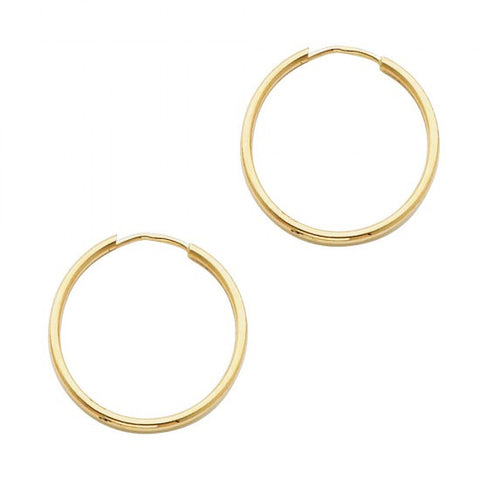 14K 1.5mm Hoop Earrings/Avg. Weight: 0.7 gr. - Top Gold & Diamond Jewelry