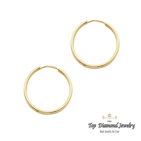 14K 1.5mm Hoop Earrings. Avg. We.: 0.7 gr. - Top Gold & Diamond Jewelry
