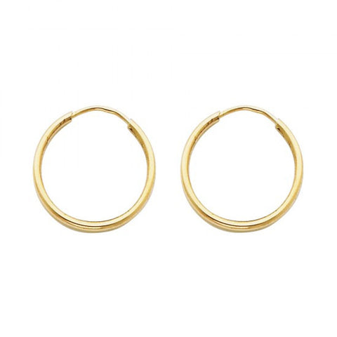 14K 1.5mm Hoop Earrings/Avg. Weight: 0.6 gr. - Top Gold & Diamond Jewelry
