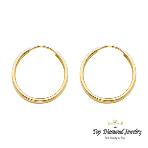 14K 1.5mm Hoop Earrings. Avg. We.: 0.6 gr. - Top Gold & Diamond Jewelry
