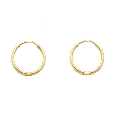 14K 1.5mm Hoop Earrings/Avg. Weight: 0.5 gr. - Top Gold & Diamond Jewelry