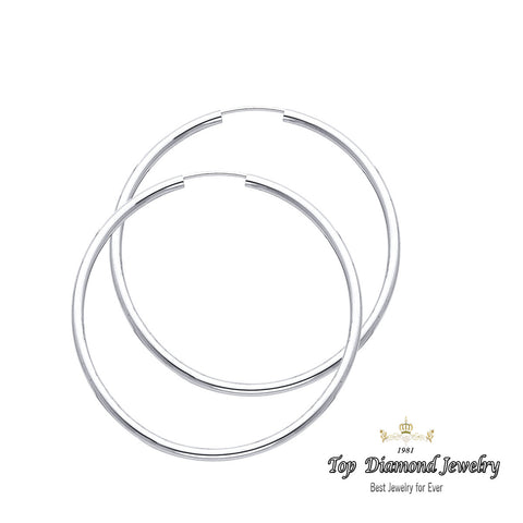 14K 2mm Hoop Earrings.Avg. We.: 2.2 gr. - Top Gold & Diamond Jewelry