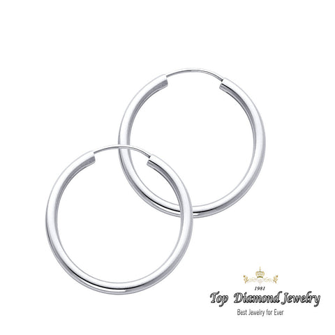 14K 2mm Hoop Earrings. Avg. We.: 1.2 gr. - Top Gold & Diamond Jewelry