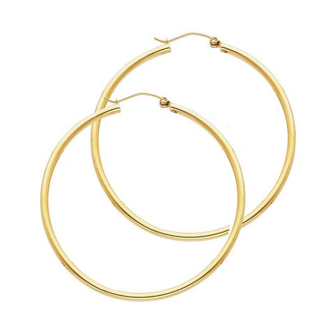 14K 2mm Hoop Earrings/Avg. Weight: 1.8 gr. - Top Gold & Diamond Jewelry
