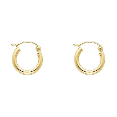14K 2mm Hoop Earrings/Avg. Weight: 0.7 gr. - Top Gold & Diamond Jewelry