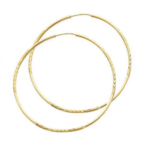 14K 1.5mm DC Hoop Earrings/Avg. Weight: 2 gr. - Top Gold & Diamond Jewelry