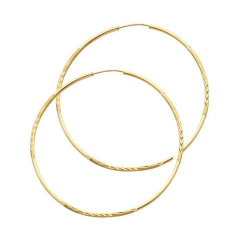 14K 1.5mm DC Hoop Earrings/Avg. Weight: 1.8 gr. - Top Gold & Diamond Jewelry