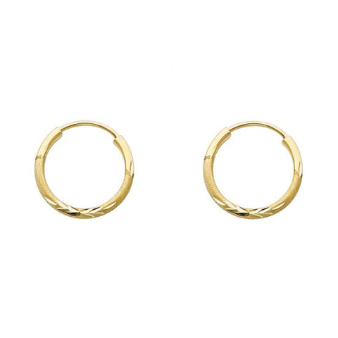 14K 1.5mm DC Hoop Earrings/Avg. Weight: 0.5 gr. - Top Gold & Diamond Jewelry