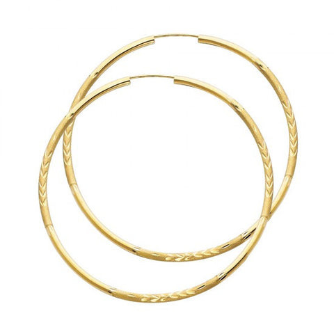 14K 2mm DC Hoop Earrings/Avg. Weight: 2.4 gr. - Top Gold & Diamond Jewelry