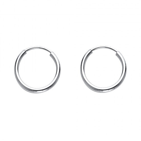 14K 1mm Hoop Earrings/Avg. Weight: 0.4 gr. - Top Gold & Diamond Jewelry