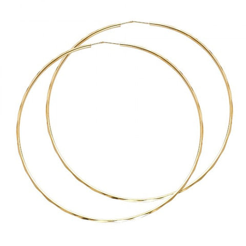 14K 1.5mm Hoop Earrings/Avg. Weight: 4 gr. - Top Gold & Diamond Jewelry