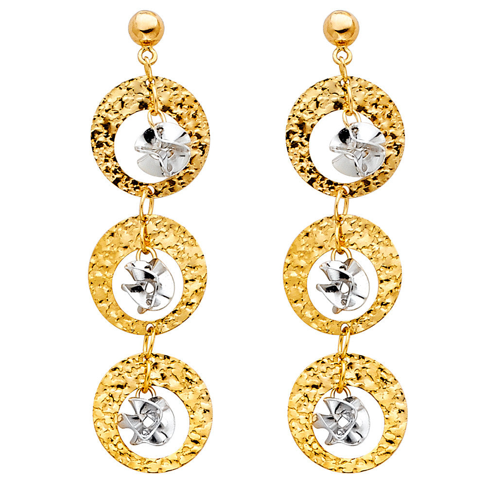 14K 2T Hanging Earrings.Avg. Weight: 2.1 gr. - Top Gold & Diamond Jewelry
