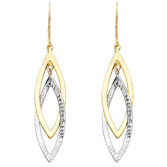 14K 2T Hollow Design Tube Earrings/Avg. Weight: 2.9 gr. - Top Gold & Diamond Jewelry