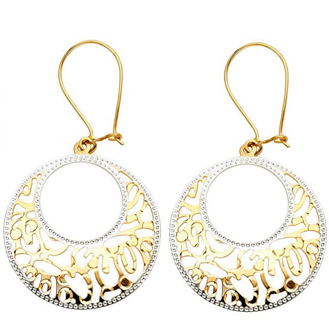 14K 2T Design Cut Out RD Earrings/Avg. Weight: 2.9 gr. - Top Gold & Diamond Jewelry