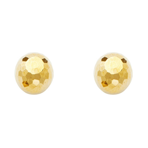 14KY 9.5mm Disco Ball Earrings W/PB.Avg. Weight: 1.9 gr. - Top Gold & Diamond Jewelry