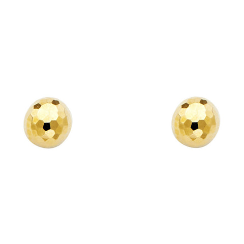 14KY 7mm Disco Ball Earrings W/PB.Avg. Weight: 1.1 gr. - Top Gold & Diamond Jewelry