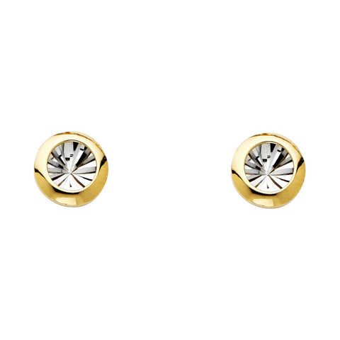 14K 2T DC RD Earrings W/PB.Avg. Weight: 1.1 gr. - Top Gold & Diamond Jewelry