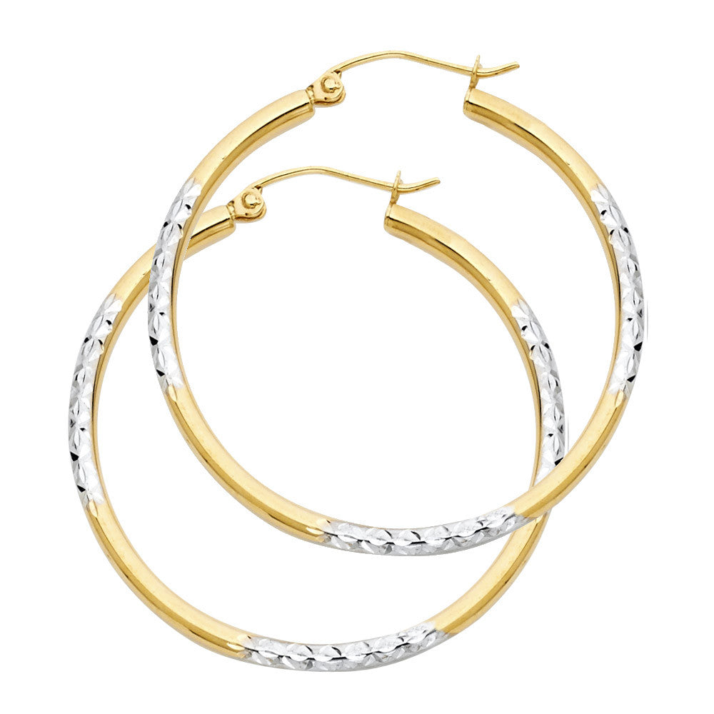 14K 2T DC Hoop Earrings/Avg. Weight: 2.1 gr. - Top Gold & Diamond Jewelry