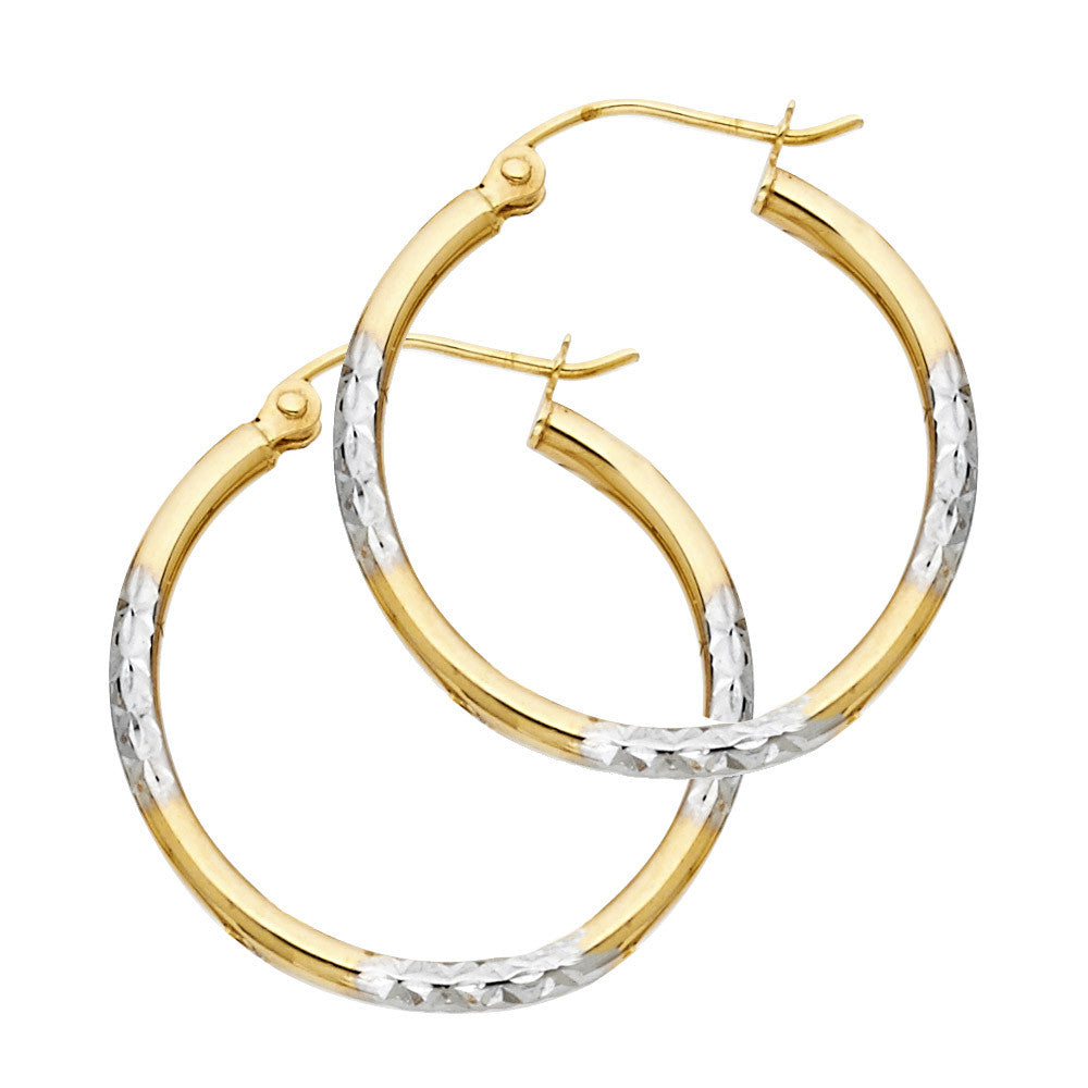 14K 2T DC Hoop Earrings/Avg. Weight: 1.3 gr. - Top Gold & Diamond Jewelry
