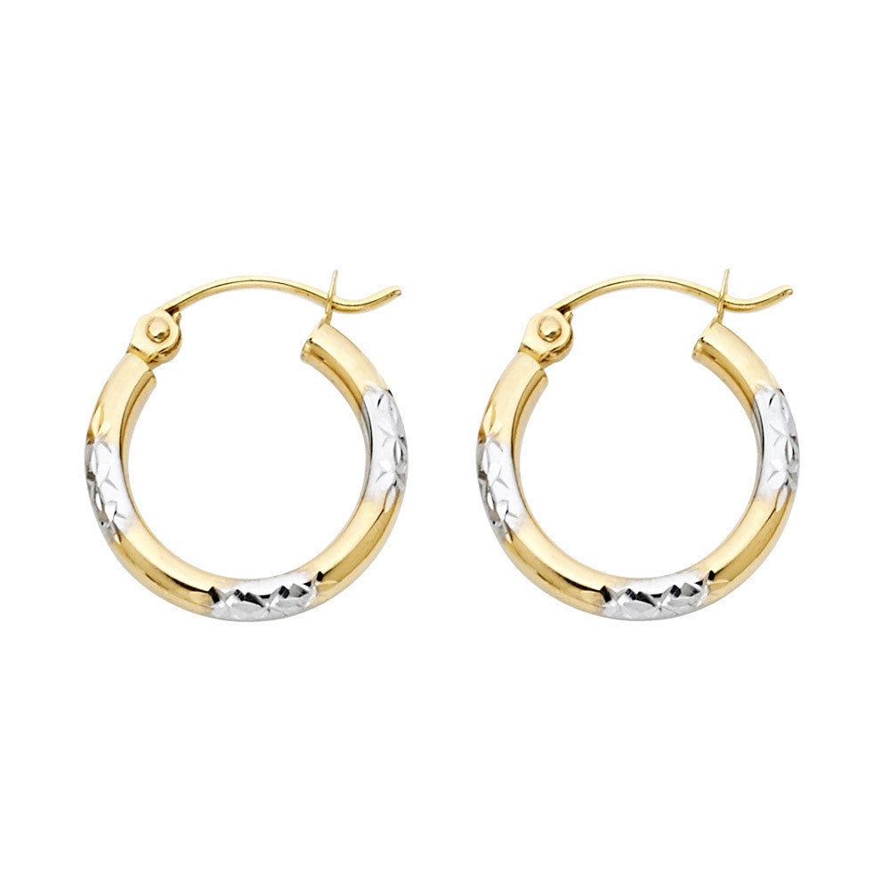 14K 2T DC Hoop Earrings/Avg. Weight: 1 gr. - Top Gold & Diamond Jewelry