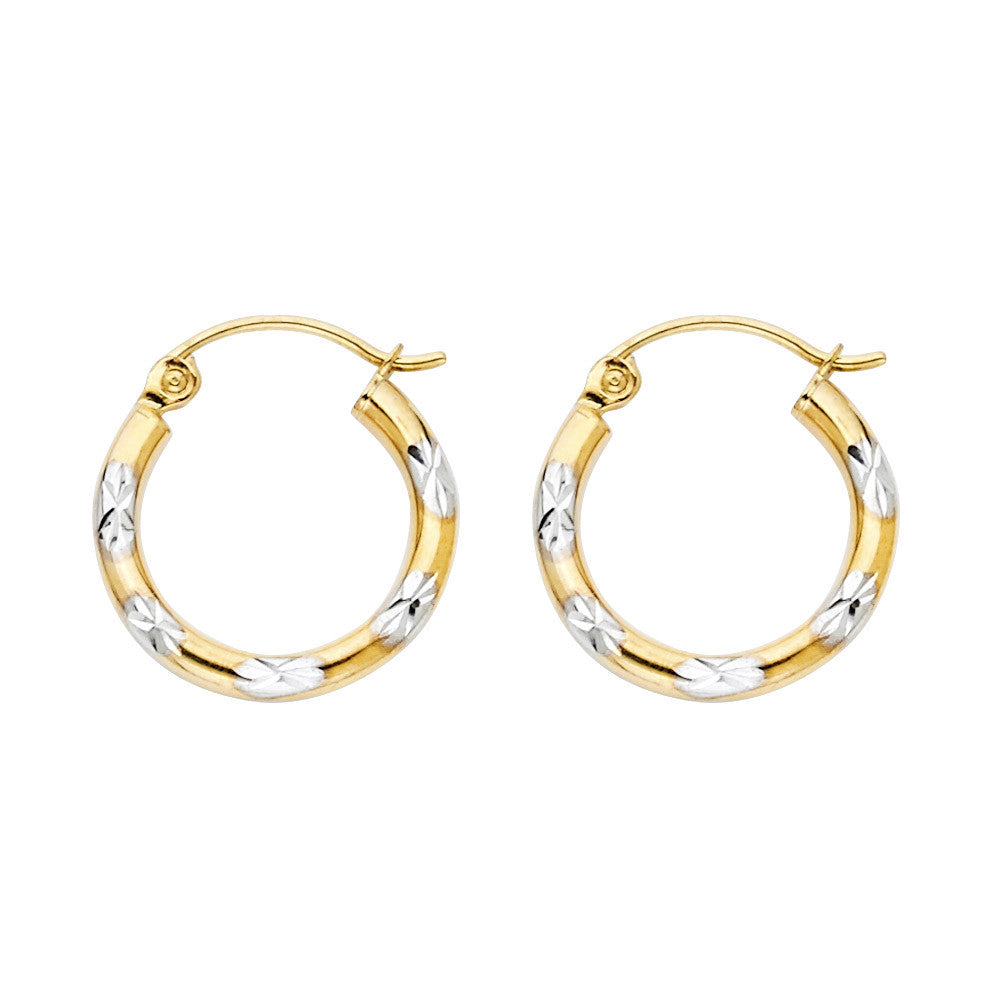 14K 2T DC Hoop Earrings/Avg. Weight: 0.7 gr. - Top Gold & Diamond Jewelry