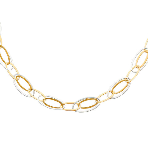 "14K 2T Hollow Necklace - 17"".Avg. Weight: 6.9 gr. - Top Gold & Diamond Jewelry"