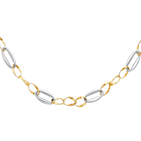 "14K 2T Hollow Necklace - 17"".Avg. Weight: 9.2 gr. - Top Gold & Diamond Jewelry"