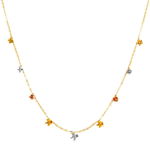 "14K 3C Necklace - 17"".Avg. Weight: 2.8 gr. - Top Gold & Diamond Jewelry"