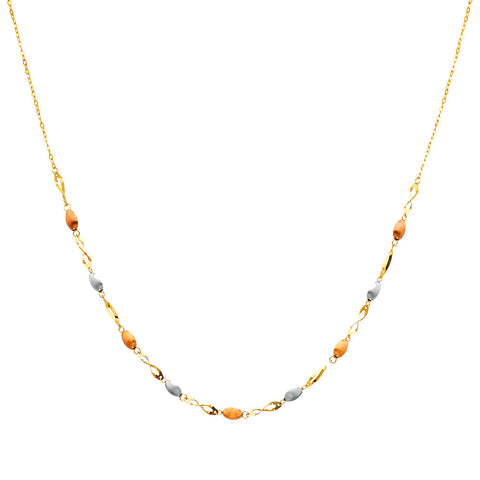 "14K 3C Necklace - 17"".Avg. Weight: 3.8 gr. - Top Gold & Diamond Jewelry"