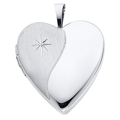 14KW Diamond-Accent Heart Locket Pendant - Top Gold & Diamond Jewelry