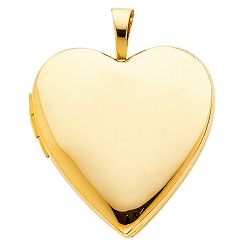 14K Heart Locket Pendant - Top Gold & Diamond Jewelry